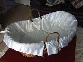 large moses basket / wicker crib