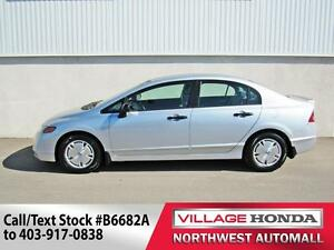 2008 Honda Civic DX-G | No Accidents | Low Kms!