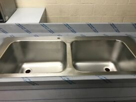 SINK, NEW, DOUBLE BOWL, SINGLE DRAINER £400 ONLY