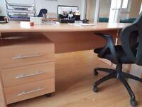 large corner desk - can be split into smaller straight desks