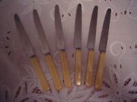 Bone handled dessert knives