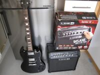 Electric Guitar and Amp (Westfield E2000 and Line 6 Spider IV 15 Watt)