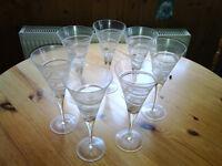 7 Unusual wine glasses 1 ft tall
