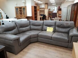 Ex SCS Dayson Grey Corner Sofa For Sale