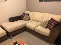 Corner settee and footstool