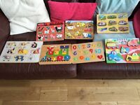 Selection Of Wooden Peg Puzzels