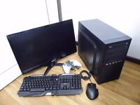 Complete Gaming Computer PC Setup with Monitor and accessories (intel i5, 8GB, with games)