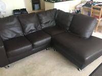 Leather Corner Sofa £20.00