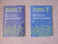 Pearson NEW GCSE Edexcel Target Grade 7 Workbook BUNDLE Algebra and Shape & Number and Statistics