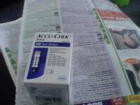 for sale 3 boxes of accu check testing strips 50 in a box