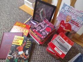 Football Memorabilia Collectables Inc LFC programmes Vintage Big Book of Football Champions Signed