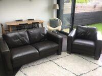 Sofitalia Leather Sofa and Armchair Suite