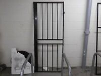 two heavy duty metal doors with key
