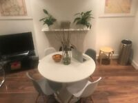 Round White Dining Table
