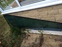 Double glazed glass and skirtings
