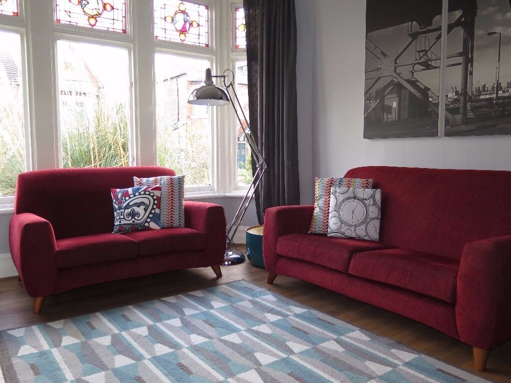 John Lewis Living Room Red John Lewis Sox Kamen Designer 3 2 Seater Sofas Retro