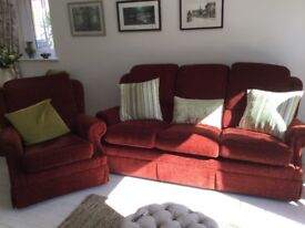 G Plan 3 Seater Sofa with matching armchair