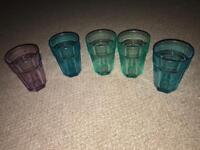 Set of 5 American Soda Style Glasses