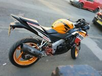 Cbr125r 13 plate full mot good spec