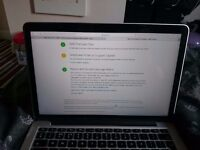 Macbook pro 2015 13 inches 2.7 ghz i5 8gb ram 128gb low battery cycle still on warranty
