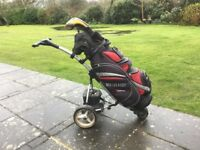 Electric trolley and clubs