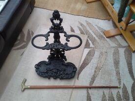 Cast iron VIctorian style umbrella/walkingstick stand