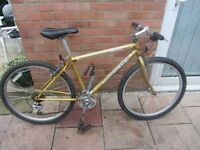 mens retro diamondback topanga mountain bike 19inch frame with bike lock £49.00