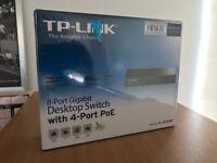 2 x TP-LINK 8-Port Gigabit Desktop Switch with 4 Port PEO (lifetime warranty) TL-SG1008P