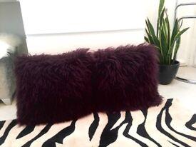 Sheepskin Cushions (pair)
