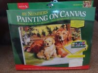 New Reeves Painting on Canvas by Numbers with Acrylic Paints set art and crafts xmas gift