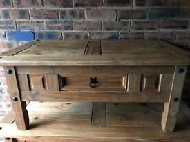 Small pine rustic table