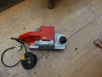 WOLF PROFESSIONAL BELT SANDER 10cm 4 inch sander 240v good working order