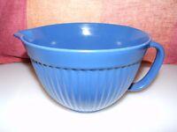 large blue melamine non slip jug - vintage