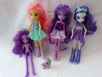 4 x My Little Pony, Equestria Girls Doll Bundle. Good Clean, Fun Bundle.