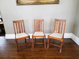 Solid oak kitchen chairs.
