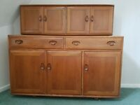 Ercol Sideboard/Dresser/Chest with Top Cupboard