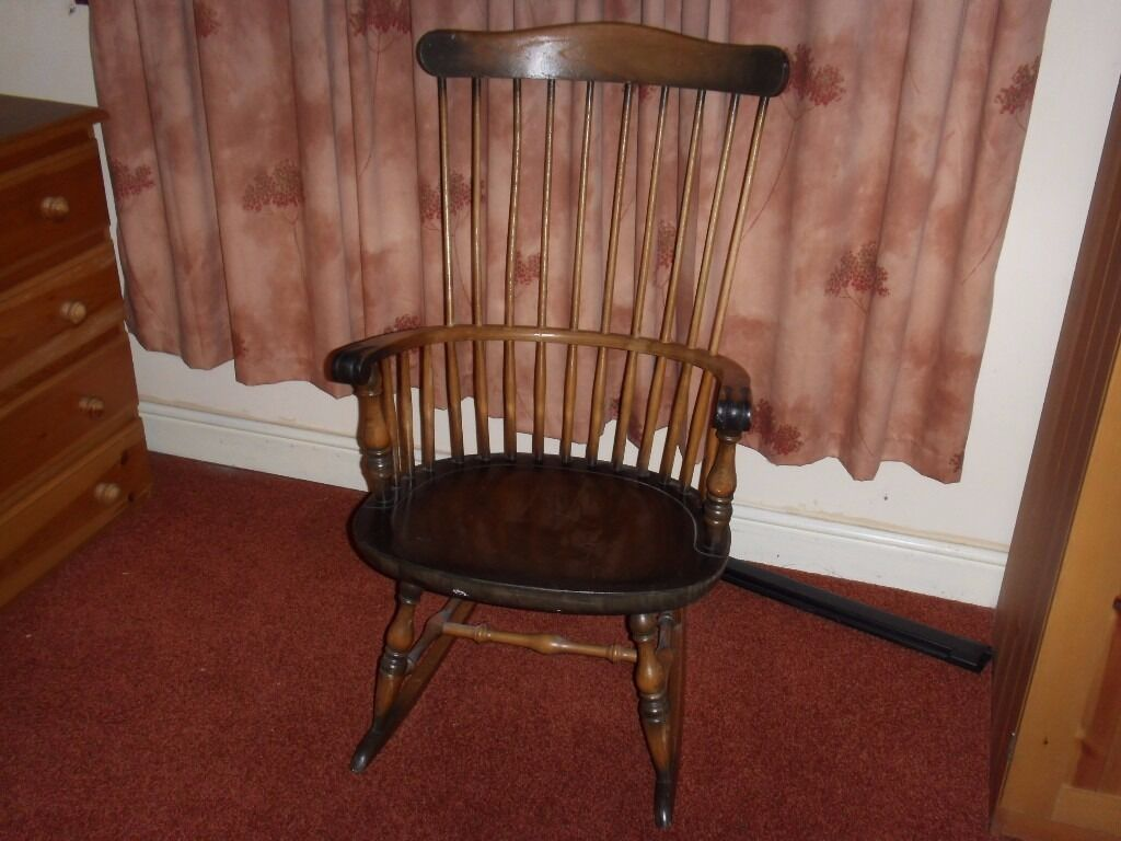 old windsor rocking chair