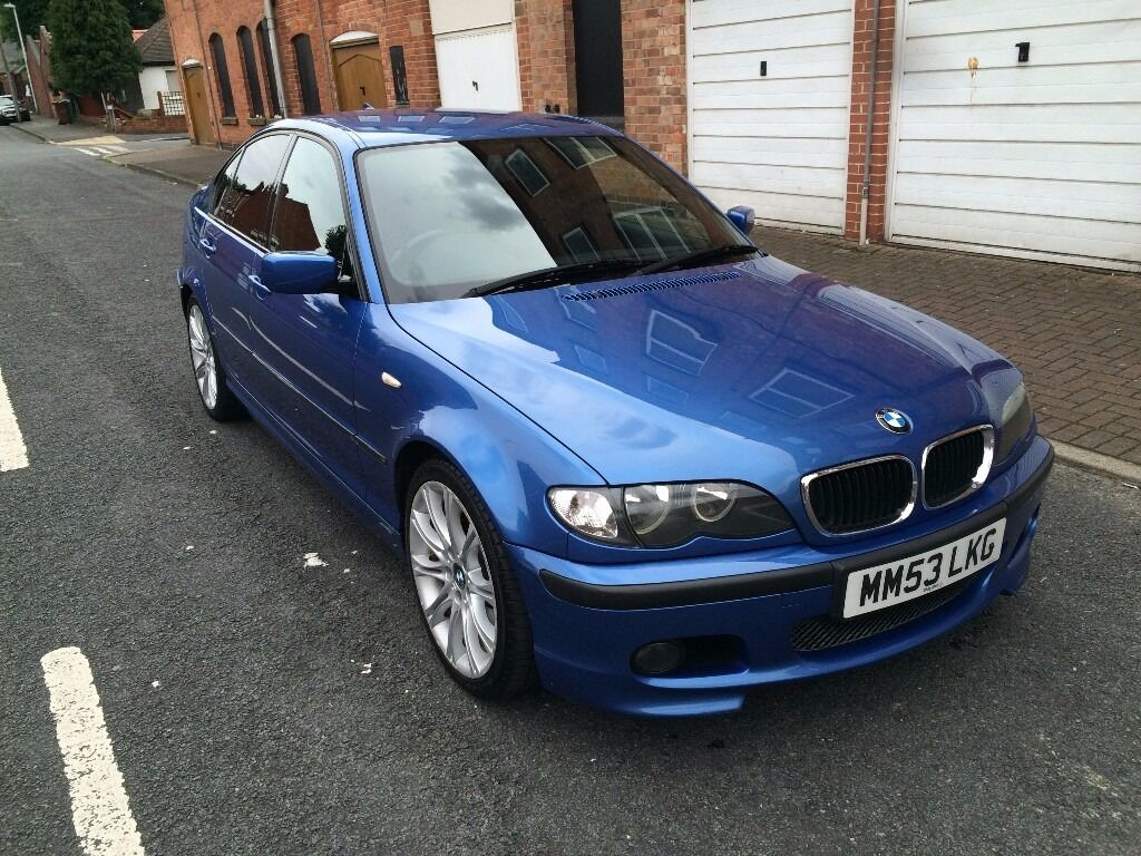 2004 53 bmw 320d sport saloon manual individual estoril blue m sport in forest fields. Black Bedroom Furniture Sets. Home Design Ideas