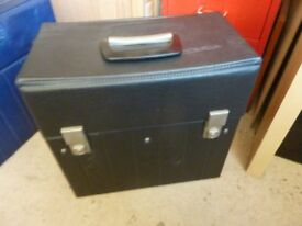 Old Vintage collectible LP Record Storage boxes, cases, 2 of,