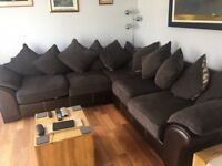 Dark Corner Sofa, Excellent Condition