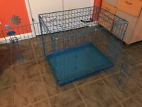 "Medium blue Easipet dogs cage 28"" x 20"" x 21"""