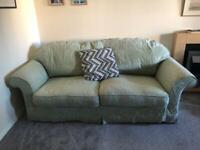 Pale Green Large 2 seater sofa with removable covers