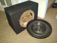 "12"" Subwoofer Box with Terminal - Sealed + Pioneer 800w Sub"