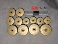 Dumbbell weights and bars 30kg