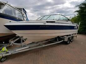 20ft cuddy motor boat. Speedboat. Volvo penta inboard. Twin axle trailer.