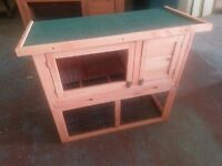 Rabbit or Guineapig two tier hutch brand