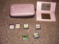 NINTENDO PINK DS LITE WITH GAMES
