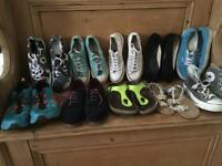 Shoes for sale starting at £5 size 5 to size 7 converse vans and Birkenstock among them