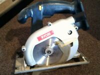 3 Drills, Circular Saw & Batteries- £40