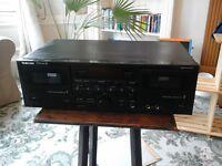 dual cassette deck - tascam 202 mkii